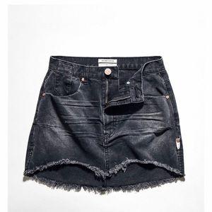 One x Teaspoon   Distressed Denim Mini Skirt